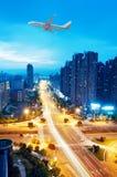 Opinión del pájaro en Wuhan China foto de archivo