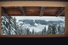 Opinión del país de las maravillas del invierno Imágenes de archivo libres de regalías