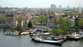Opinión del paisaje de Amsterdam Foto de archivo