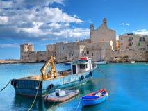 Opinión del paisaje de Giovinazzo. Apulia. foto de archivo libre de regalías
