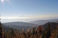 Opinión del paisaje de la montaña Fotografía de archivo libre de regalías