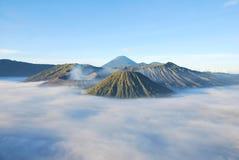 Opinión del paisaje de la montaña de Bromo fotos de archivo