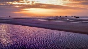 Opinión del paisaje de la playa de la arena Fotografía de archivo