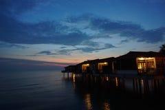 Opinión del paisaje de la puesta del sol Foto de archivo