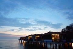 Opinión del paisaje de la puesta del sol Foto de archivo libre de regalías