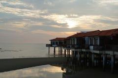 Opinión del paisaje de la puesta del sol Imagen de archivo