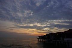 Opinión del paisaje de la puesta del sol Fotografía de archivo