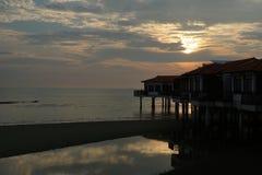 Opinión del paisaje de la puesta del sol Imagen de archivo libre de regalías