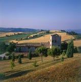 Opinión del paisaje de las colinas de Toscana imágenes de archivo libres de regalías