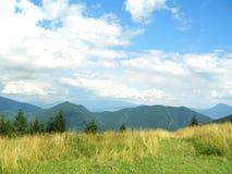 Opinión del paisaje de las montañas Fotografía de archivo