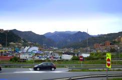 Opinión del paisaje de Liguria, italiano Riviera Imagenes de archivo