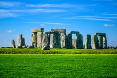 Opinión del paisaje de Stonehenge en Salisbury, Wiltshire, Inglaterra, Reino Unido foto de archivo libre de regalías