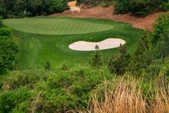 Opinión del paisaje del campo de golf Fotografía de archivo libre de regalías