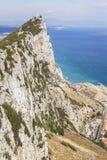 Opinión del paisaje del fondo de la roca de la reserva de Gibraltar y de naturaleza Imagen de archivo libre de regalías