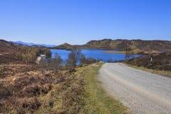 Opinión del paisaje del lago Tarff Imagen de archivo
