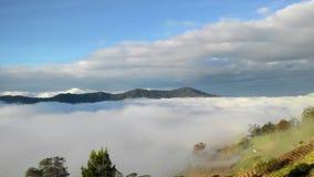 Opinión del paisaje del paisaje de la montaña Kinabalu Imagen de archivo