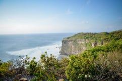 Opinión del paisaje del templo del mar del Balinese Imagenes de archivo
