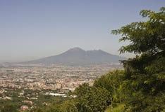 Opinión del paisaje del Vesuvio Imágenes de archivo libres de regalías