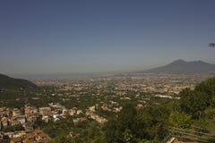 Opinión del paisaje del Vesuvio Foto de archivo libre de regalías
