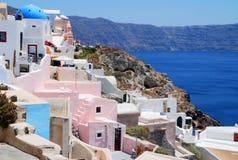 Opinión del paisaje en Santorini Imagen de archivo libre de regalías