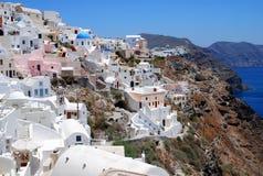 Opinión del paisaje en Santorini Fotografía de archivo libre de regalías