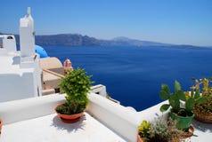 Opinión del paisaje en Santorini Foto de archivo libre de regalías
