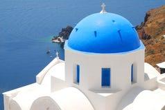 Opinión del paisaje en Santorini Imagen de archivo