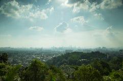 Opinión del paisaje Kuala Lumpur Foto de archivo libre de regalías