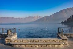 Opinión del paisaje del lago Como, Italia Imagenes de archivo