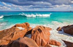 Opinión del paisaje marino Fotografía de archivo