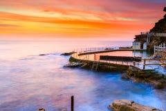 Opinión del paisaje marino de la salida del sol Imagenes de archivo