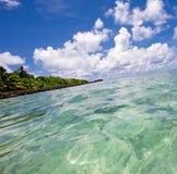 Opinión del paisaje marino del Océano Índico Fotos de archivo