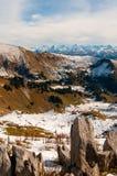 Opinión del paisaje del paso de Kaiseregg sobre las montañas suizas, Suiza fotografía de archivo libre de regalías