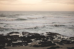 Opinión del paisaje sobre la costa de Oregon Foto de archivo libre de regalías