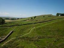 Opinión del paisaje sobre la pared de Hadrian Foto de archivo libre de regalías