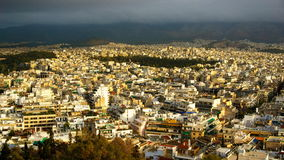 Opinión del paisaje urbano de Atenas Imagen de archivo libre de regalías