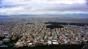 Opinión del paisaje urbano de Atenas Foto de archivo libre de regalías