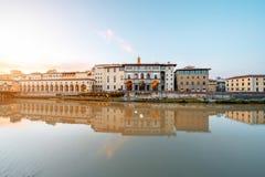 Opinión del paisaje urbano de Florencia Fotografía de archivo