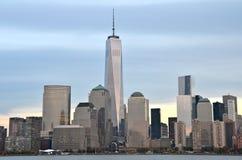 Opinión del paisaje urbano de Manhattan céntrica, NYC Fotografía de archivo