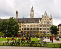Opinión del paisaje urbano de Munich Fotos de archivo libres de regalías