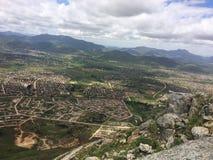 Opinión del paisaje urbano de Mutare del paso de Christemass Imagen de archivo