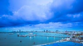 Opinión del paisaje urbano de Pattaya Imagen de archivo