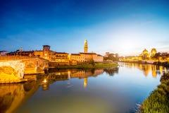 Opinión del paisaje urbano de Verona foto de archivo