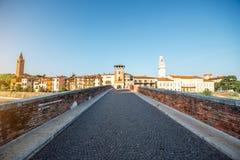 Opinión del paisaje urbano de Verona imagen de archivo