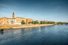 Opinión del paisaje urbano de Verona fotografía de archivo