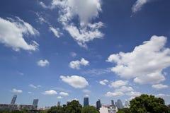 Opinión del paisaje urbano en Bangkok, Tailandia Fotografía de archivo