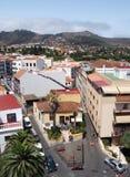 Opinión del paisaje urbano del La Laguna en la opinión panorámica de Tenerife foto de archivo
