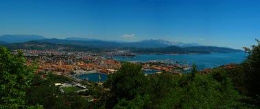 Opinión del panorama al La Spezia Fotos de archivo libres de regalías