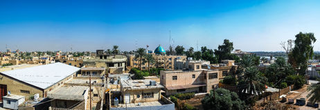 Opinión del panorama a Bagdad, Iraq imagenes de archivo
