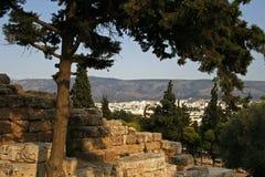 opinión del panorama de Atenas Grecia Imagen de archivo